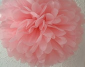 3 Tissue paper pom poms, Valentines poms, Wedding decorations, Baby, Bridal shower, Party decorations. Hanging pom poms. Hanging flower ball
