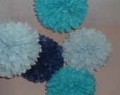 12 poms Tissue paper poms, Pom poms, Paper pom, Wedding decorations, Baby shower. Wedding anniversary, Bridal party, Party