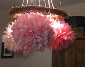 Set of 60 POMS. Party decorations, pom poms, paper pom poms, country wedding decorations, Pick your colors.