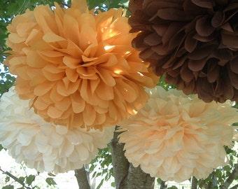 Tissue paper pom pom / wedding decorations / pom decorations / nursery decorations poms / baby pink decorations / diy / Set of 12