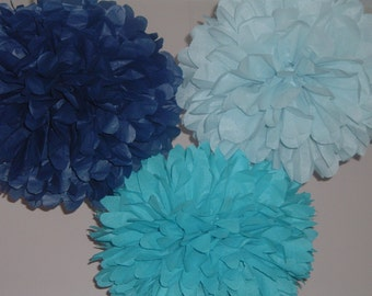 Set of 10 Medium Tissue paper pom poms. - Party decorations, paper pom pom, bommel