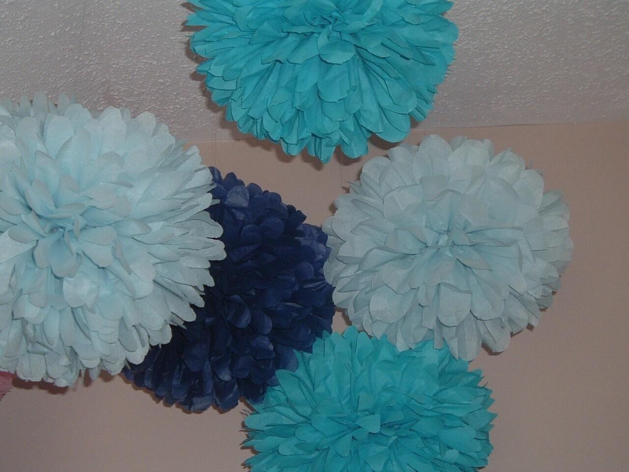 tissue paper poms pom poms paper pom wedding decorations. Black Bedroom Furniture Sets. Home Design Ideas