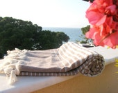 BEACH Towel,NATURAL Cotton ,Eco Friendly PESHTEMAL,High Quality Hand Woven Turkish Cotton Bath,Beach,Spa,Yoga,Pool Towel