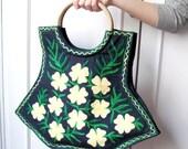 Free shipping Bag Eco-Friendly Organic Cotton Tote Bag Handembrodery Shopping Bag For Her Women Handbag Gift ldeas