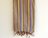 COTTON Towel,NATURAL Stripe Cotton ,Eco Friendly PESHTEMAL,High Quality Hand Woven Turkish Cotton Bath,Beach,Spa,Yoga,Pool Towel