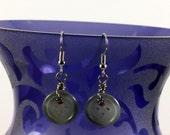 Grey Mist Button Earrings