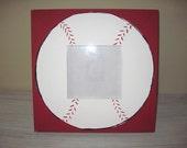 custom Hand painted baseball picture frame