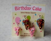 Birthday Cake Stitch Marker Charms