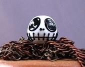 Set of Jack Nightmare Skellingtons - 5 handmade lampwork Halloween Beads by SRA artist Payton Jett