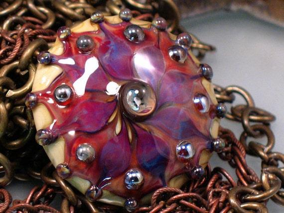 Phoenix Kismet  - Handmade Lampwork Focal Bead By Sra Artist Payton Jett