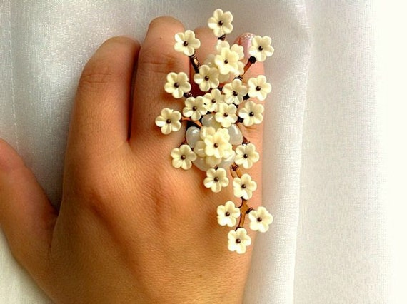 Ivory Flower Ring
