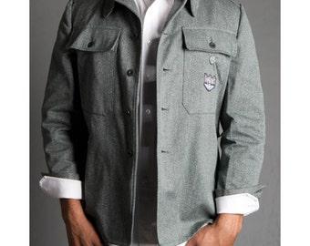 1980's Military Style Swiss Vintage Jean Jacket