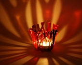One of a Kind Fused Glass Candle Holder