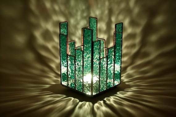 Candle Holder Votive or Tealight Stained Glass