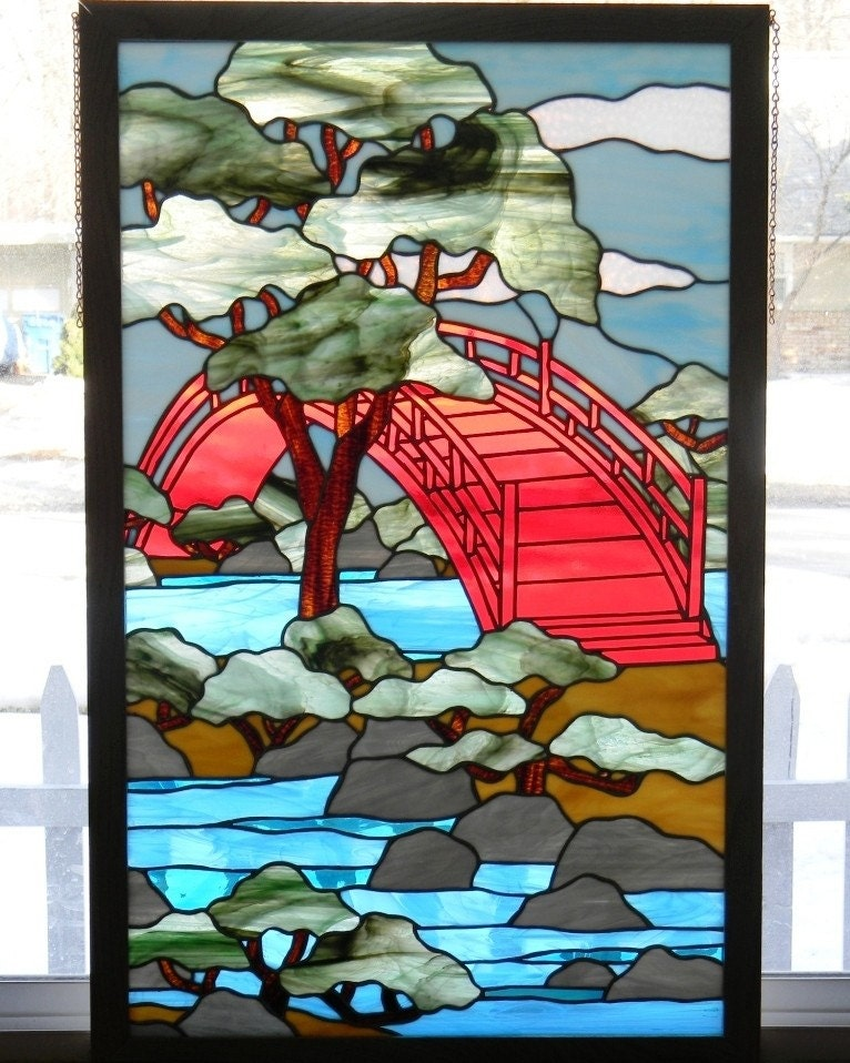 Stained Glass Panel Bridge Of Tranquility Window Art