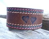 Sale  Leather Cuff  Leather belt Cuff  Recycled Cuff  Leather Cuff Band