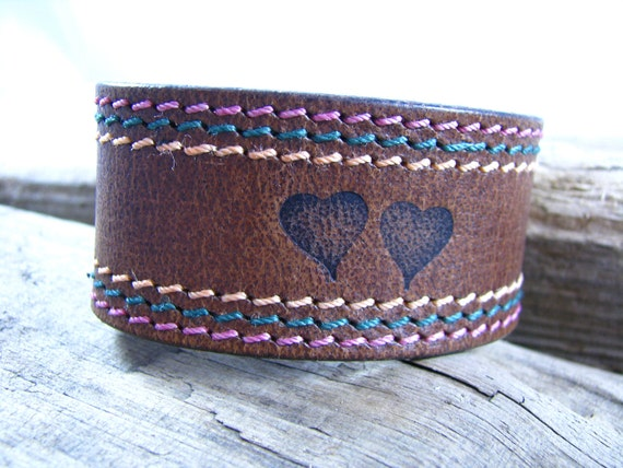 Sale  Leather Cuff  Leather belt Cuff  Recycled Cuff  Leather Cuff Band