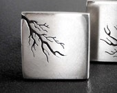 Square root - silver cufflinks