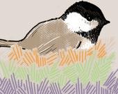 158. Nesting - 8 x 10 giclee print, original illustration