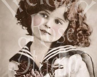 Meg-Vintage German Postcard Digital Image Download