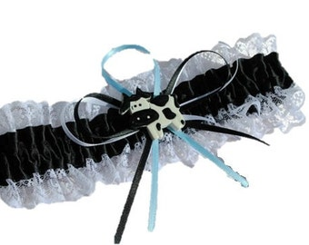 Cow themed Wedding garter