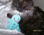 Catnip crochet ocotpus cat toy with rattle ANY color you want Cat NOT Included
