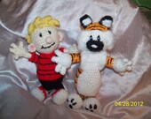 Crochet Calvin and Hobbes Tiger small