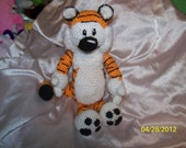 Crochet Hobbes Tiger crochet tiger 14 inches