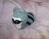 Crochet raccoon squat ANY colors you want Can be made to rattle or squeak