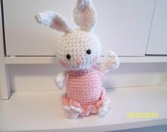 Ballernia crochet  bunny rabbit ANY colors you want
