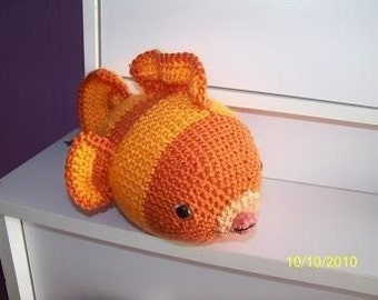 Gordon the crochet  goldfish fish any color you want