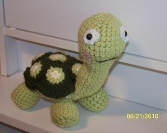 Mort the Tortoise turtle crochet toy Any colors you want