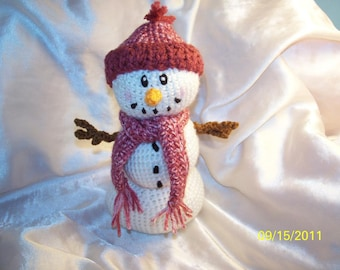 Crochet Snowman ANY color scarf and hat you want
