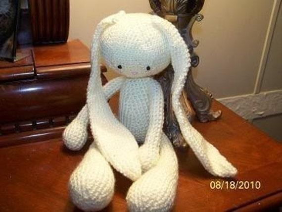 Super Cute 25 Amigurumi Animals To Make : Super cute amigurumi crochet Floppy Bunny stuffed animal made