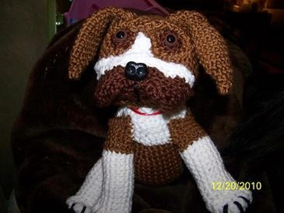 Crochet Boxer puppy dog ANY colors you want ANY dog breed you want