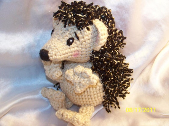 Herbert the Crochet Hedgehog Ready to Ship