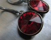 Dainty Drop Earrings, Choice of Color