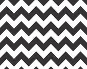 ON SALE 1 Yard Riley Blake Black Medium Chevron