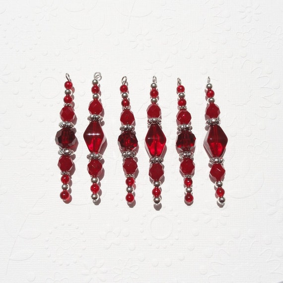 Christmas Decorations Icicle Ornaments: Boxing Day Sale Red Icicle Christmas Ornaments Beaded With