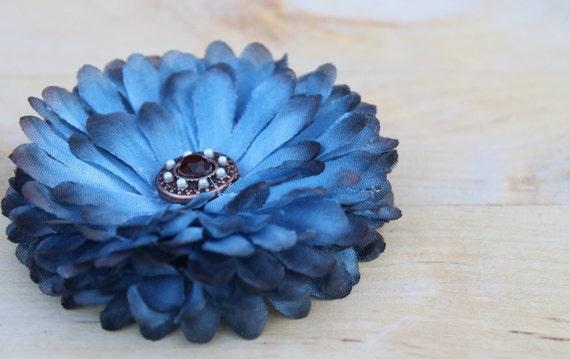 Blooming Blue Hair Flower