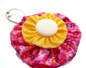 Ponytail Holder Hair Bow Mix-n-Match Bright Pink Yellow White