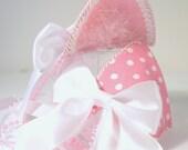 Pink Polka Dot Cat Ears
