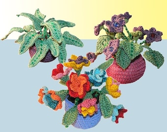 Potted Plants - Set of 3 Crochet Patterns