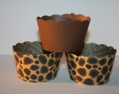 24 Leopard Print Cupcake Wrappers