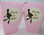 50 Popcorn Boxes Ready to POP- Choose your dotted color