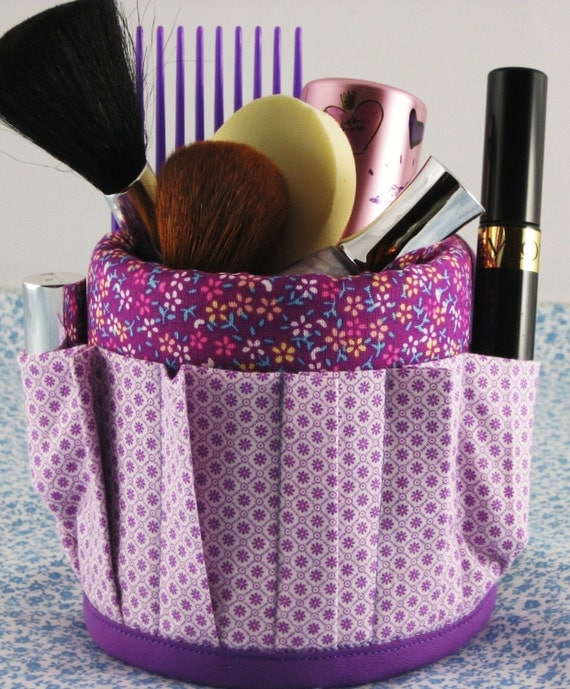 Coffee Mug Cup Aprons Covers Have Stuff will Organize Makeup Floral Dot