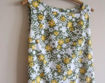 70's Floral cotton Dress