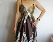 New Sexy Brown Long Maxi Dress S,M,L,XL