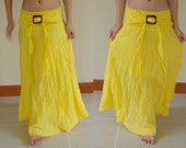 """50% Discount Special time Coupon code """" SPECIALTIME """" Yellow Cotton Strapless Dress or Skirt"""