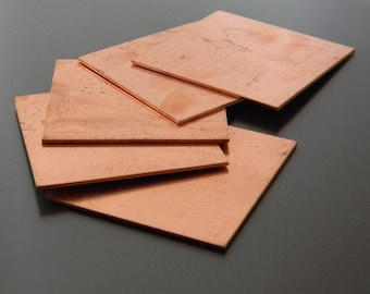Thick Copper Sheet 3 inch x 3 inch